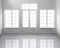 White Room with Windows Royalty Free Stock Images