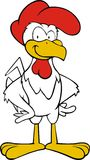 White rooster cartoon  Royalty Free Stock Image