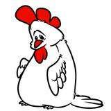 White Rooster cartoon Royalty Free Stock Images