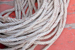 The white rope. Royalty Free Stock Images