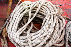 The white rope. Royalty Free Stock Image