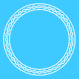 White rope decorative frame Royalty Free Stock Image