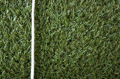 White rope on grass Royalty Free Stock Photos
