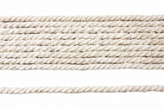 White rope stock photography