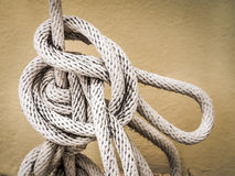 White rope And Knot Stock Photography