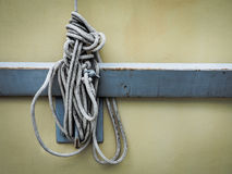 White rope And Knot Royalty Free Stock Photography