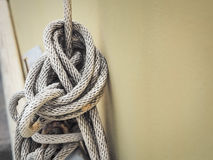White rope And Knot Stock Photo