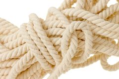 White rope mess Royalty Free Stock Photography