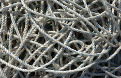 White ropes piled up Royalty Free Stock Photography