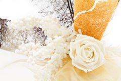 White rose. Arranged in beautiful flower decoration royalty free stock photo