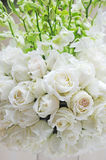 White rose. In the wedding reception Stock Images