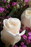 White rose. In a bridal bouquet Stock Photos