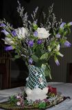 White rose Arrangement. A white rose floral arrangement Royalty Free Stock Images