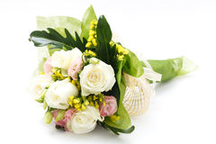 White rose bouquet. On white background Royalty Free Stock Images