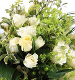 White rose bouquet Stock Photography