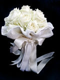 White rose bouquet isolate Stock Photos