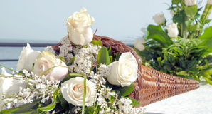 White rose bouquet Royalty Free Stock Image