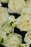 White rose and freesia bouquet Royalty Free Stock Image