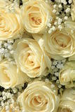 White rose and gypsophila bouquet Stock Images