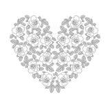 White rose heart Royalty Free Stock Photo