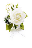 White rose lapel decoration Royalty Free Stock Photo