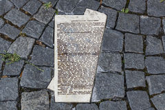 White Rose Memorial Leaflets at University in Munich, Germany, Stock Photography