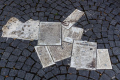 White Rose Memorial Leaflets at University in Munich, Germany, Stock Images