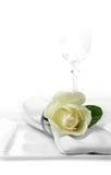 White Rose Napkin Stock Photos