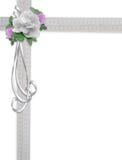 White Rose Wedding Invitation  Stock Photos