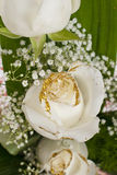 White roses bouquet Stock Photography