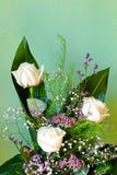 White roses bouquet Stock Photos