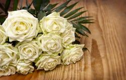 White roses bouquet. Stock Photo