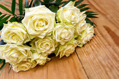 White roses bouquet. Royalty Free Stock Images