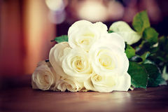 White roses bouquet Royalty Free Stock Image