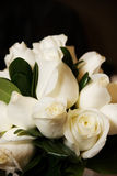 White Roses Bridal Bouquet. A bridal bouquet made of white rose buds Royalty Free Stock Photos