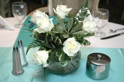 White Roses Centerpiece Royalty Free Stock Image