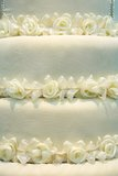 White roses from cloth on  white background Stock Photography