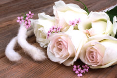 White roses, festivity Royalty Free Stock Image
