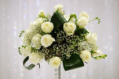 White roses flower arrangement Royalty Free Stock Photo