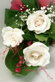 White roses flower bouquet Royalty Free Stock Photos
