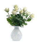 White Roses In Vase Royalty Free Stock Image