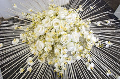 White roses large bouquet floral composition Stock Photography