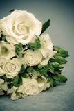 White roses and lilies Stock Photos