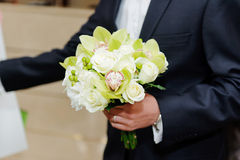 White Roses and Orchids Royalty Free Stock Photography