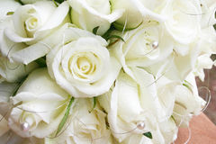 White roses with pearls Royalty Free Stock Photo