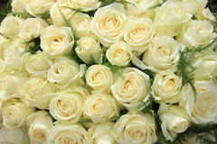 White roses in a wedding arrangement Stock Images