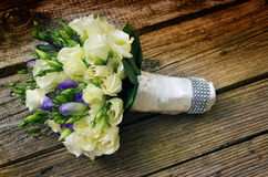 White roses wedding bouquet Stock Photography