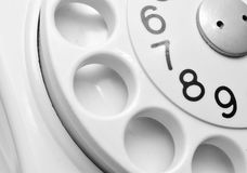 White Rotary Telephone Dial Royalty Free Stock Images