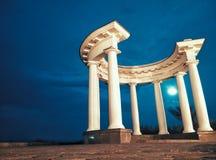 White rotunda. Rotunda of Peoples' Friendship or White gazebo - Colonnade in Poltava, one of the symbols of the city Royalty Free Stock Photos