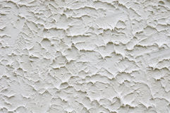 White rough plaster on wall Royalty Free Stock Photo